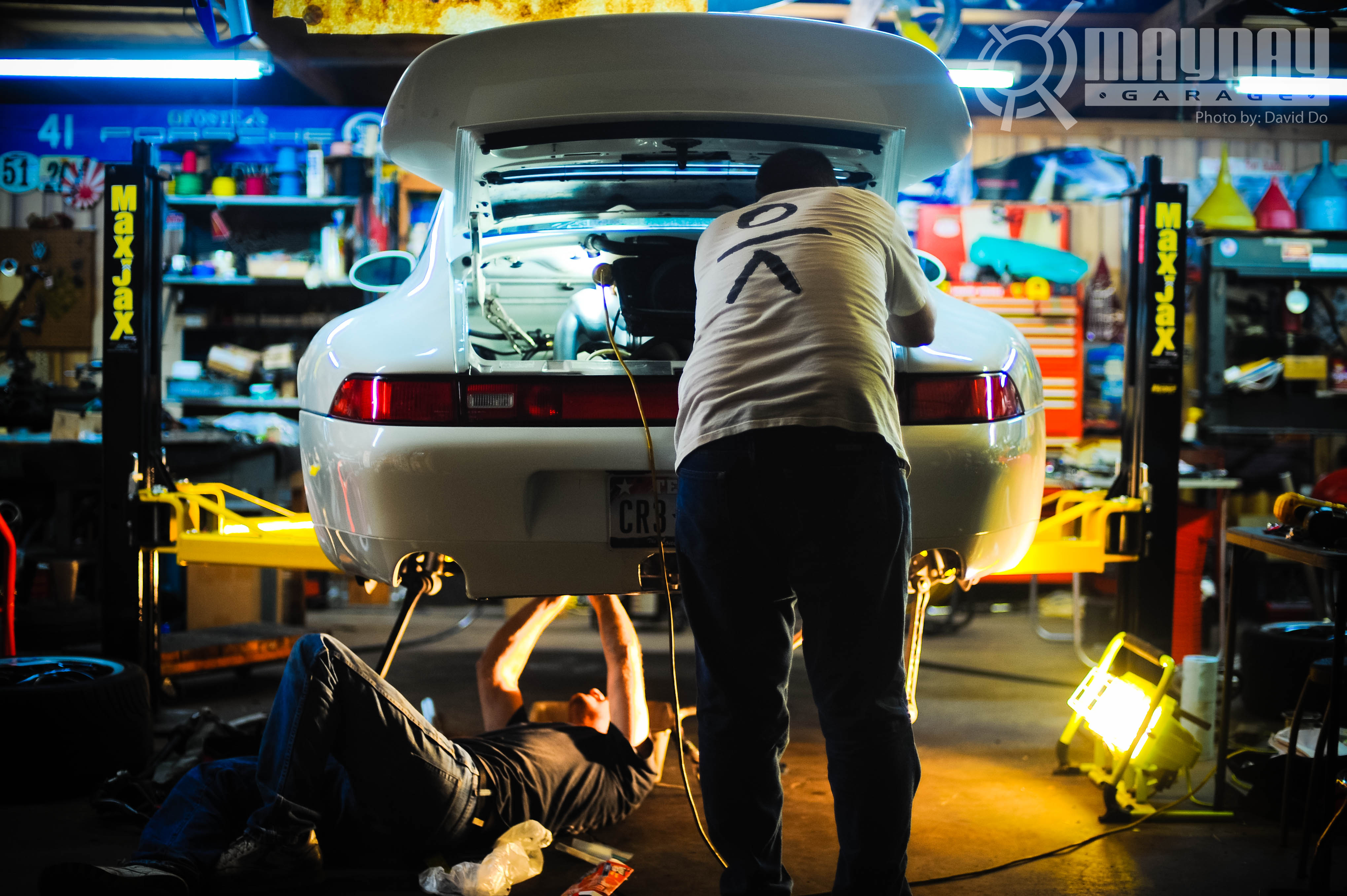 ... Undisclosed Location/garage On A Really Cool Porsche 993 911. Old  School Meets New School. Keep Your Eyes Peeled For A Mayday Life Post By  Our Own Danny ...