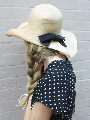 cute hat and braid