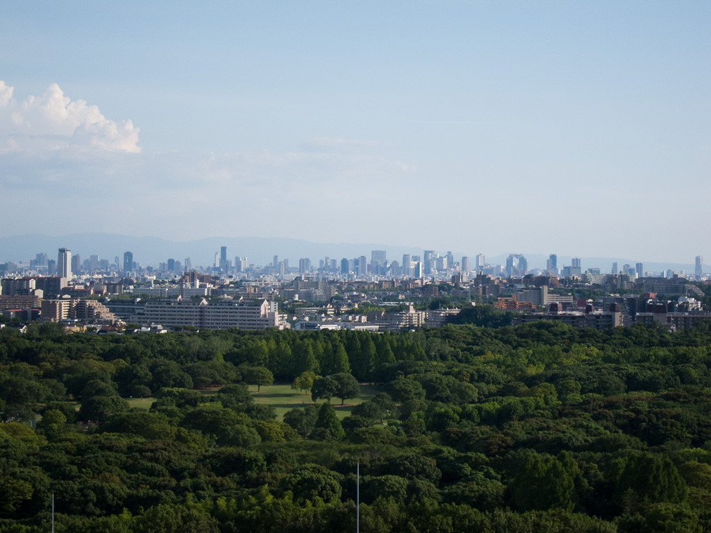 the distant view of Osaka City