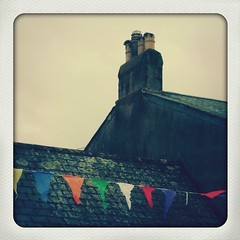 summer (in between the showers) (under the ivy) Tags: summer rooftops devon bunting totnes instagram