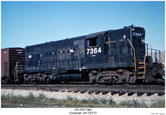 CR GP9 7364 (Robert W. Thomson) Tags: railroad ohio train diesel cincinnati railway trains locomotive trainengine cr conrail geep emd gp9 fouraxle