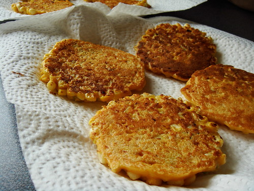 Corn Fritters: Fried