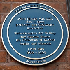 Photo of John Fraser blue plaque