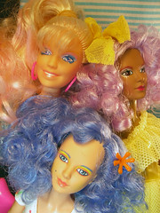 Curly Girls (Milky Mixer) Tags: pink blue rock hair punk doll purple curls shana jem misfits hasbro stormer holograms