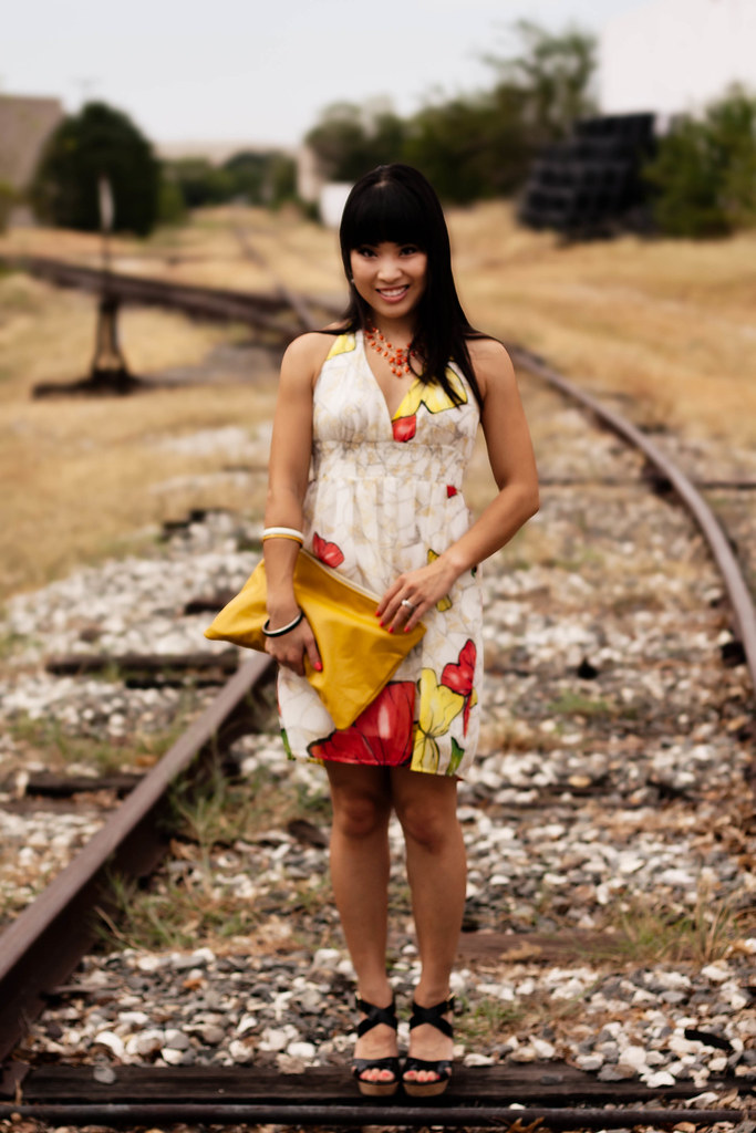 forever 21 butterfly halter dress, amrita singh nello necklace, american apparel yellow medium carry-all pouch, steve madden temppest