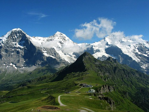 The Eiger, Monch and The Jungfrau