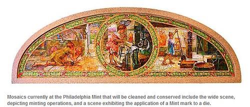 Philadelphia Mint mosaic