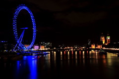 London Eye & Big Ben - Londres - Angleterre (Micky75017) Tags: voyage uk travel viaje england london eye night canon noche photo europe nacht picture bigben 7d londres noite nuit notte imagen noc edf 밤 ночь 夜 ducloux micky75017