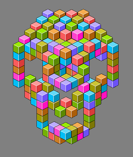 colors photoshop skull blocks gif cubes mystuff