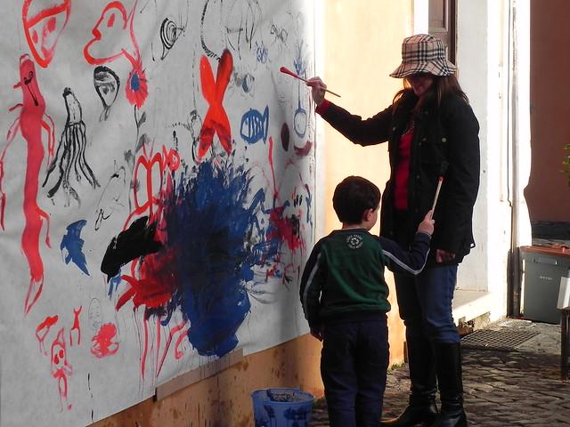 Painting in Trastevere, Rome