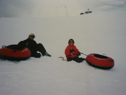 Snow Tubing in Squaw Valley