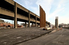 SR 99 construction bypass and ramp looking south