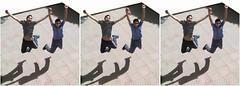 Phantoboys_ Triplet 3D stereo picture (Shahrokh Dabiri) Tags: boys persian stereoscopic 3d jump jumping iran picture stereo iranian triplet sidebyside depth throughthewindow phantogram 3dpicture dabiri ttweffect عکسسهبعدی