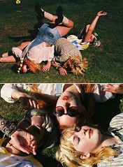 friendship (nicolette clara) Tags: girls friends summer portrait film beauty sunshine youth 35mm photography rainbow colorful friendship bright annie flare frenchie teenage charlotterutherford