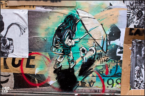 Alice Pasquini Street Art Stencil Work, London. Photo ©Hookedblog / Mark Rigney