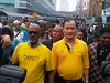 Pakatan leader in the Bersih march by freemalaysiatoday