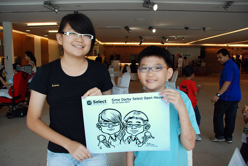 Caricature live sketching for Sime Darby Select Open House Day 2 - 15