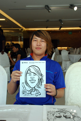 Caricature live sketching for Sime Darby Select Open House Day 2 - 31