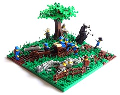 Union Ambush (Lego-LM) Tags: horse tree green army war lego union confederate civil american artillery ambush