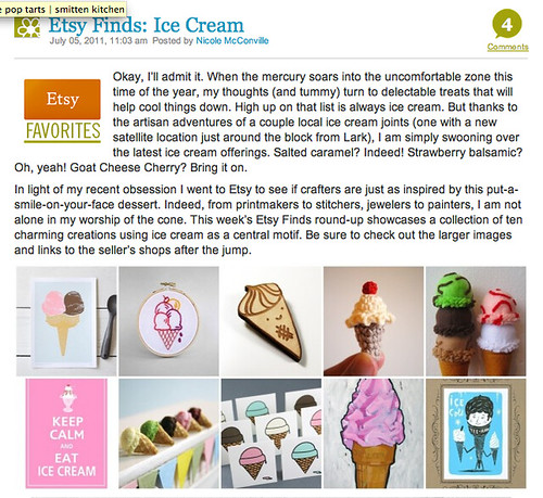 Etsy Finds: Ice Cream