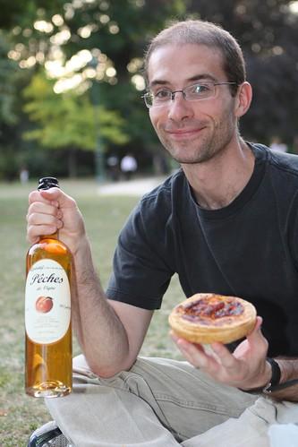 Matt with Peach Liqueur and Quiche