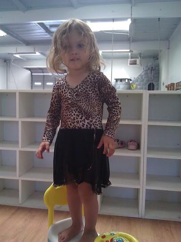 Katie as a leopard ballerina