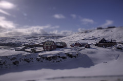 Hoyvk_minature (Jannis Srensen) Tags: blue sky white house snow islands shift tilt flagg faroe minature froyar hoyvk merki