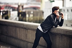 . (Rick Nunn) Tags: camera bridge man london leather wall rick east panasonic jacket nunn canonef135mmf2l vsortpop