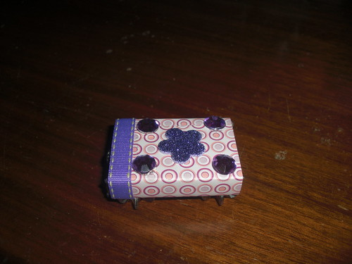 Pink and Purple Fun Altered Matchbox
