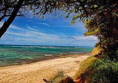 Oceanfront (jcc55883) Tags: ocean sky beach clouds hawaii sand nikon day oahu clear pacificocean kaalawaibeach nikond40 diamondheadroad