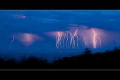 5 Minutes of Lightning (jeffsmallwood) Tags: blue storm evening intense lightning shenandoah overlook thunder skylinedrive