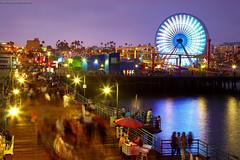 Santa Monica - Evening at the pier (PatrickSmithPhotography) Tags: ocean california venice usa seascape water fog landscape la pier losangeles pacific santamonica