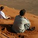 Mas a areia tambem cansa