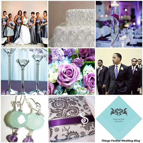 sophistication of Tiffany blue and the femininity of Victorian purple