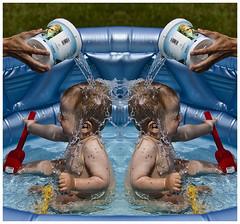 In the pool (Nicke B) Tags: summer water pool bath play sweden bad sverige vatten lek sommar doublevision nicklas dubbelt diplopia blomqvist nicklasblomqvist fotonicke photonicke