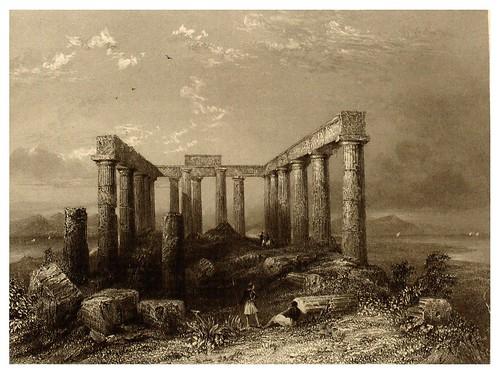 008-Ruinas del templo de Minerva en Egina-La Grèce pittoresque et historique 1841- Christopher Wordsworth-© Biblioteca de la Universidad de Heidelberg
