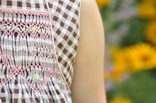 Smocked Top Closeup
