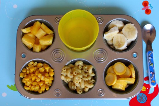 muffin tin meal-yellow