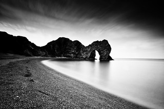 Durdle Door (b&w)