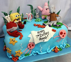 Spongebob Characters cake
