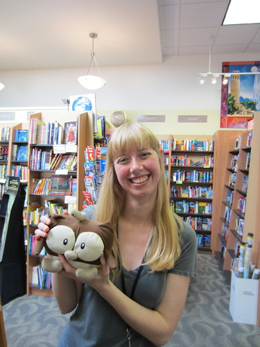 Anna, a bookseller at Books Inc, poses with Owly