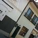 神岡町唯一の酒蔵、大坪酒造。天保13年創業の老舗。内部には石垣を飲み込んだ酒蔵がある。