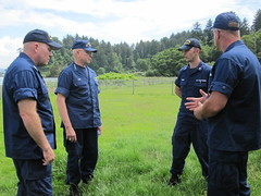 Adm. Papp and MCPOCG Leavitt visit Station Cape Disappointment