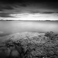 DISTANT ISLANDS (~~~johnny~~~) Tags: bw norway square islands rocks pole andya troms grytya 1740mmlf4 elgsnes grtavr canoneos5dmkll leefilters09and075