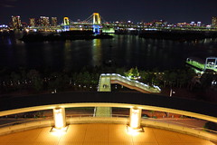Odaiba 1 (♥ Spice (^_^)) Tags: ocean trip travel sea art water japan night canon buildings photography eos lights tokyo photo asia flickr colours image january picture blogger livejournal 5d 東京 odaiba 旅行 海 建物 rainbowbridge facebook 水 光 お台場 橋 写真 夜 2011 twitter tumblr ダーク markⅱ カラー mygearandme ringexcellence レインボーブリッジ