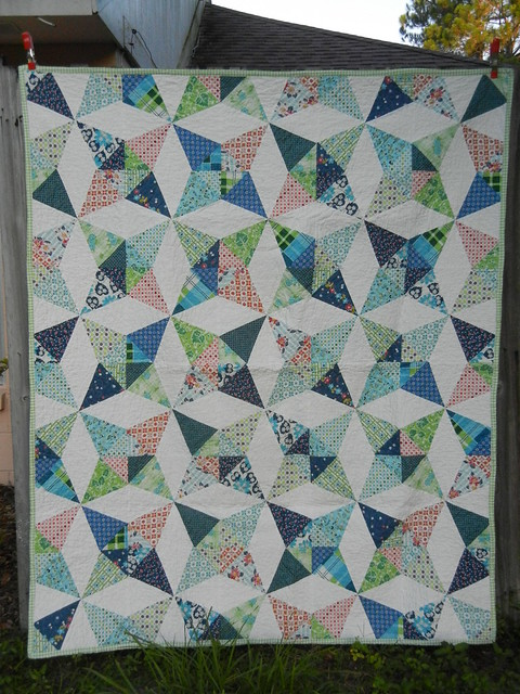 Kaleidoscope quilt - front view