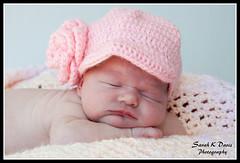 Carlee (sarahkathleendavis) Tags: summer baby girl hat outdoors infant july newborn asleep newsboy