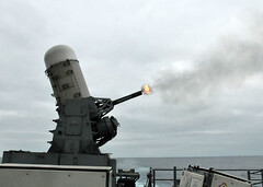 The Close-In Weapon System is fired during a live-fire gunnery exercise aboard USS Boone (Official U.S. Navy Imagery) Tags: navy pacificocean sailor usnavy ciws livefire guidedmissilefrigate closeinweaponsystem gunneryexercise ussbooneffg28