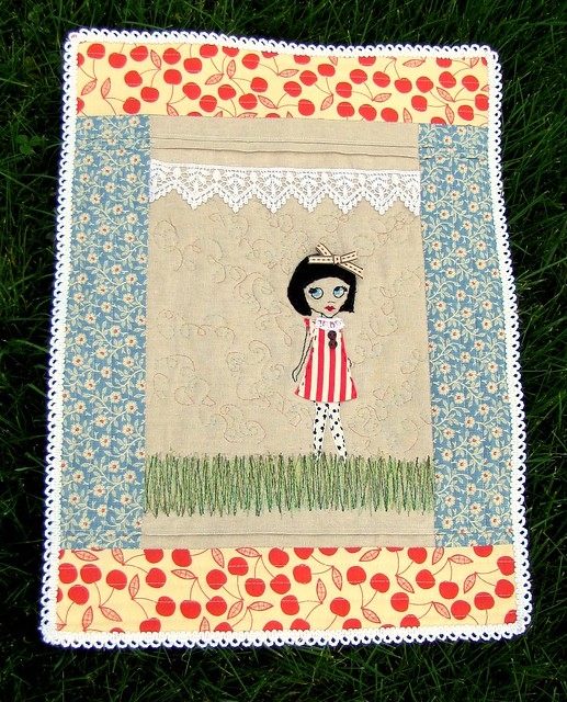 finished doll's quilt