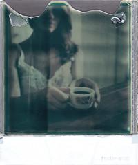 Sulla natura umana (margot_pandone) Tags: portrait italy black girl polaroid sx70 hands bologna fade